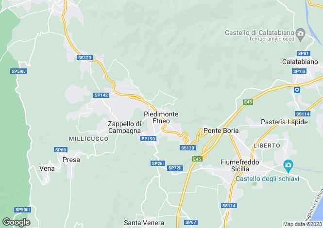 Map for Piedimonte Etneo, Catania, Sicily
