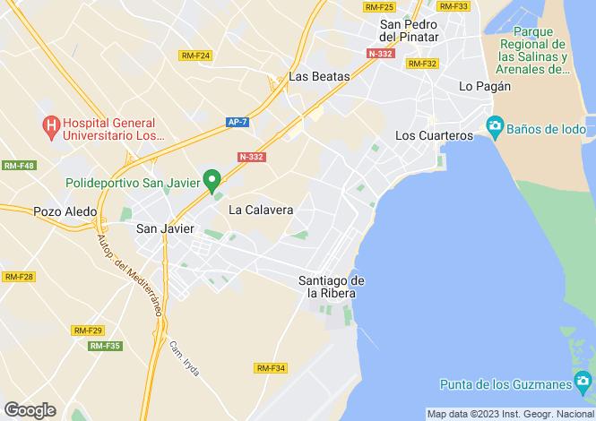 Map for Av. Romeria de San Blas, San Javier