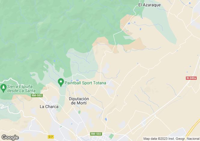 Map for Murcia, Totana