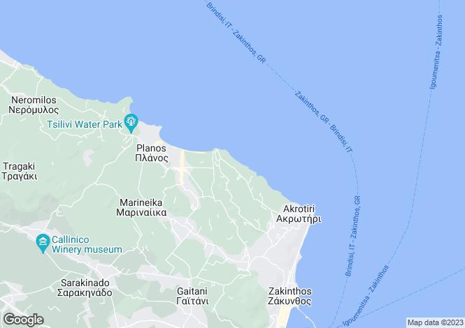 Map for Ionian Islands, Zante, Zante