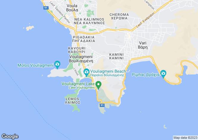 Map for Attica, Vouliagmeni