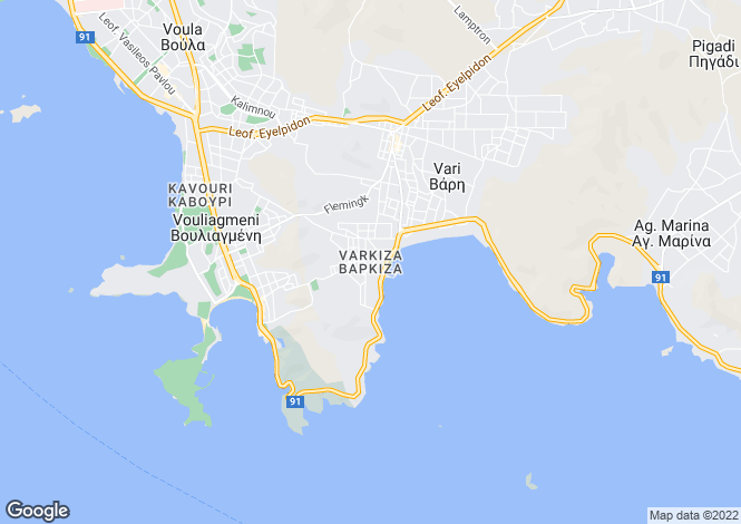 Map for Vouliagmeni, Attica