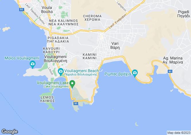 Map for Vouliagmeni, Attica
