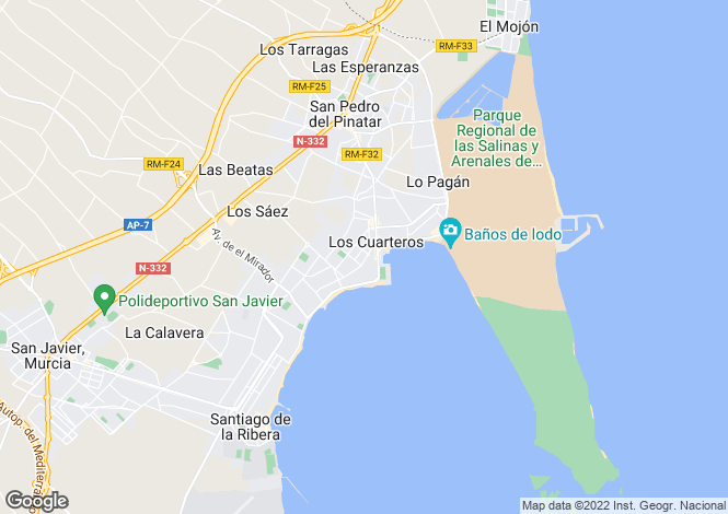Map for Lo Pagán, San Pedro del Pinatar, Murcia
