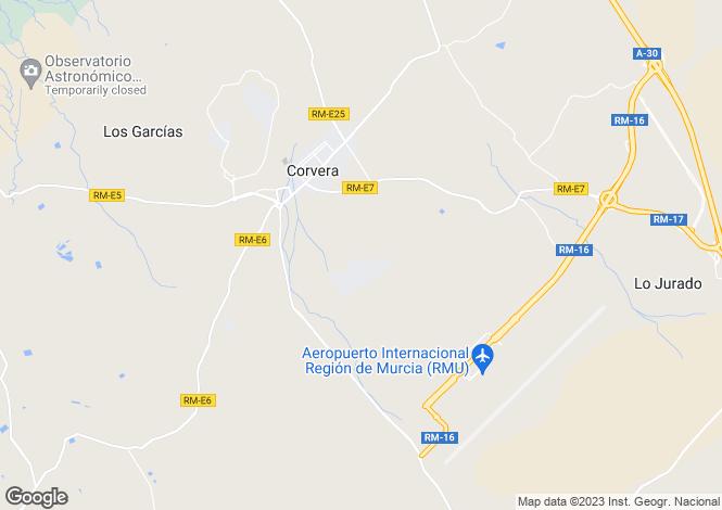 Map for Corvera, Murcia