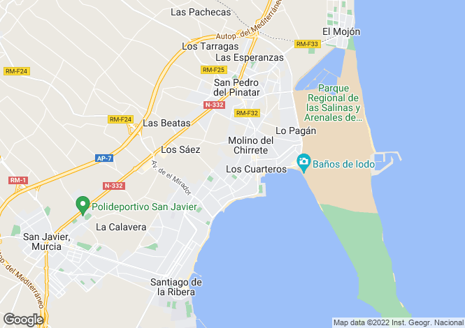 Map for Lo pagan, Murcia