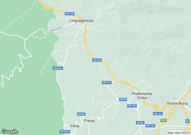 Map for Sicily, Catania, Piedimonte Etneo