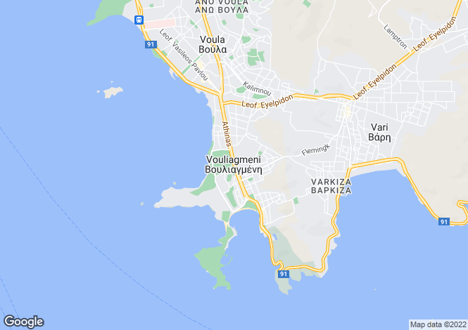 Map for Attica, Vouliagmeni