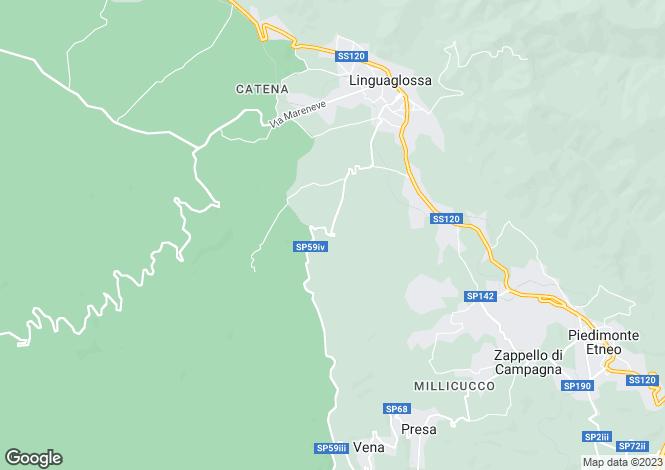 Map for Sicily, Catania, Linguaglossa