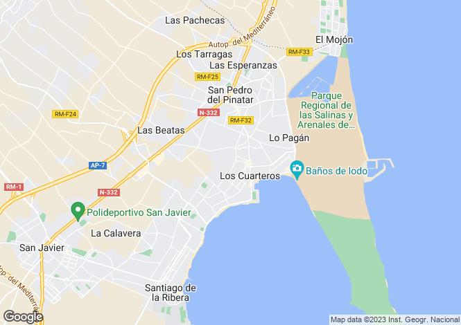 Map for Lo Pagán, San Pedro del Pinatar, Murcia