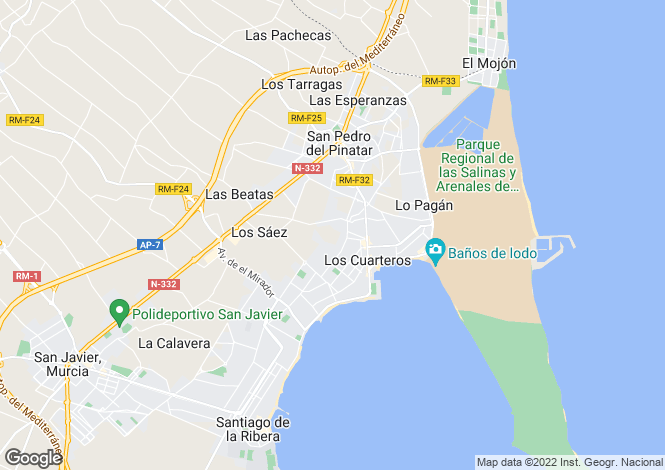 Map for Spain - Murcia, San Pedro del Pinatar