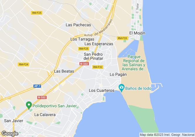 Map for Spain - Valencia, Alicante, Pilar de la Horadada