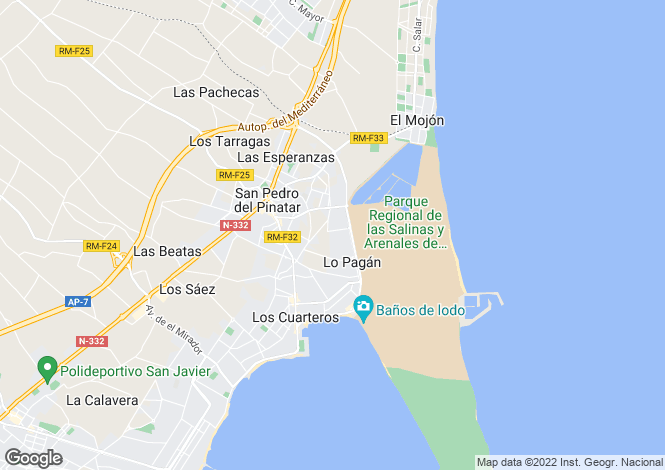 Map for San Pedro del Pinatar, Murcia