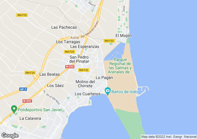 Map for San Pedro del Pinatar