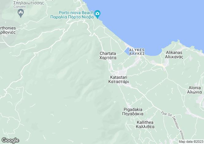Map for Ionian Islands, Zakynthos, Katastari