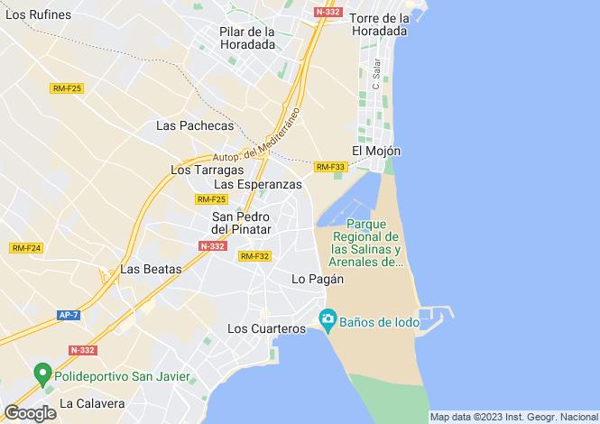 Map for San Pedro del Pinatar, Murcia