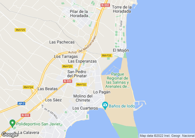 Map for Spain - Murcia, San Pedro del Pinatar