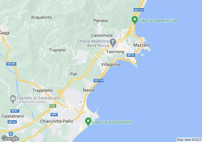 Map for Giardini-Naxos, Messina, Sicily