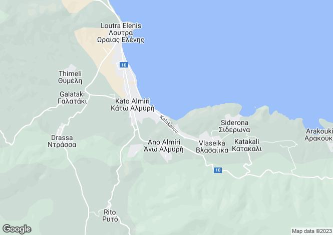 Map for Attica, Aghia Paraskevi