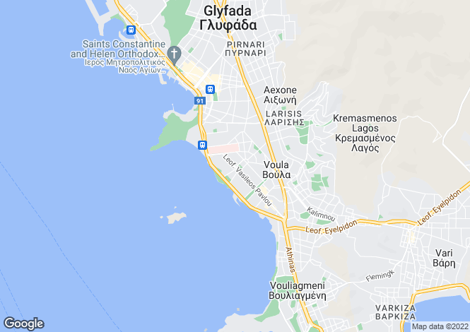 Map for Voula, Attica