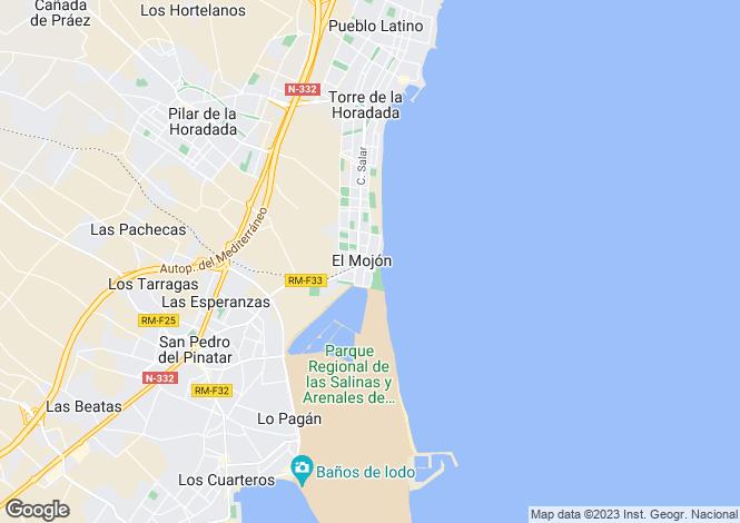Map for Spain - Murcia, El Mojon