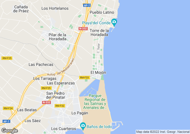 Map for Murcia, El Mojon