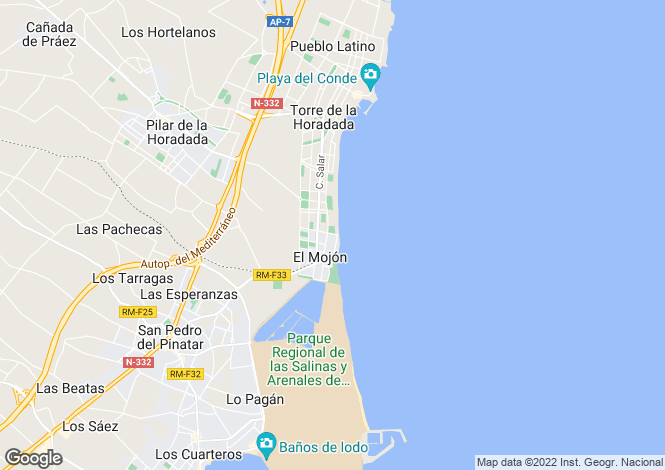 Map for Torre de la Horadada, Alicante, Valencia