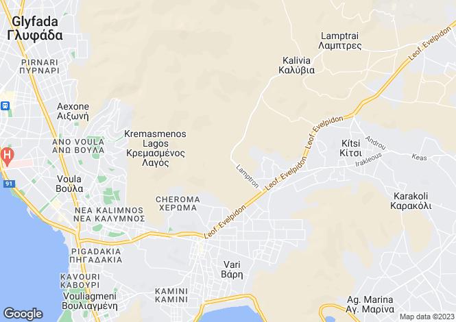 Map for Attica, Vari