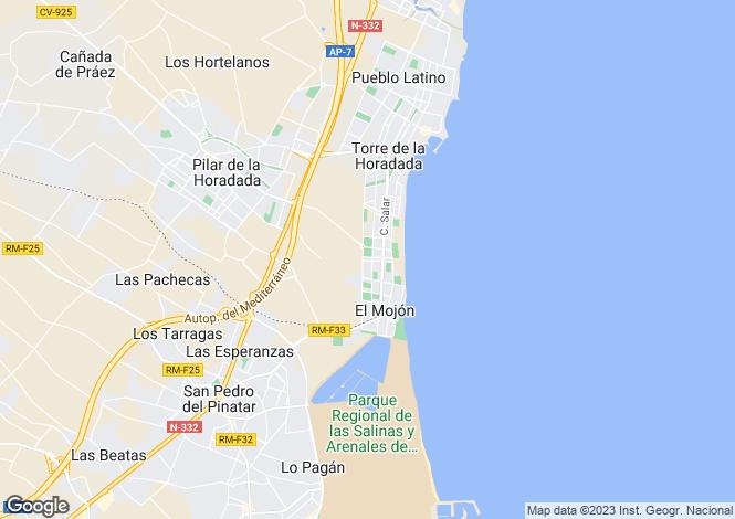 Map for Torre De La Horadada, Alicante, Spain