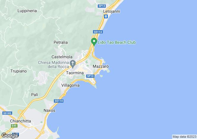 Map for Taormina, Messina, Sicily