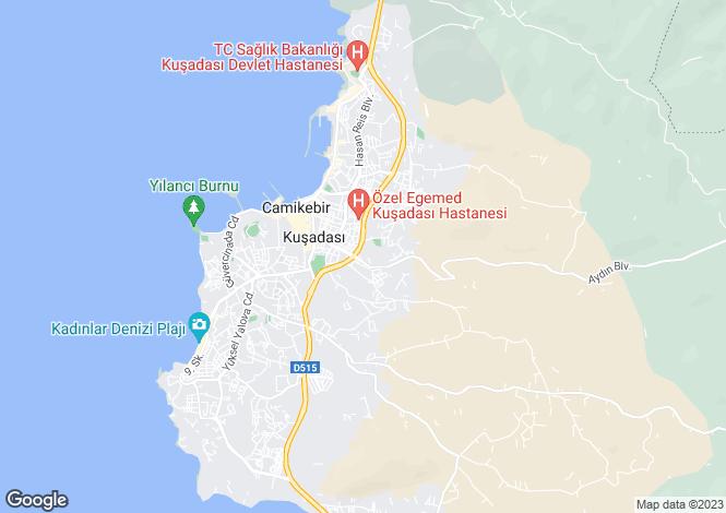 Map for Aydin, Kusadasi, Kusadasi