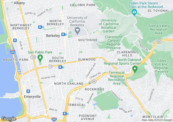 Map for USA - California, Alameda County, Berkeley