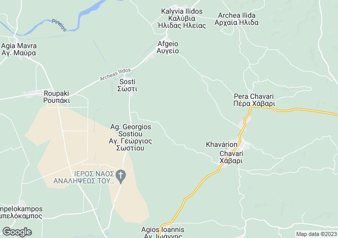 Map for Peloponnese, Elis, Chavari