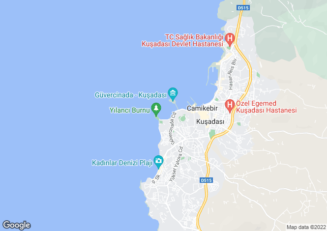 Map for Aydin, Kusadasi, Kusadasi