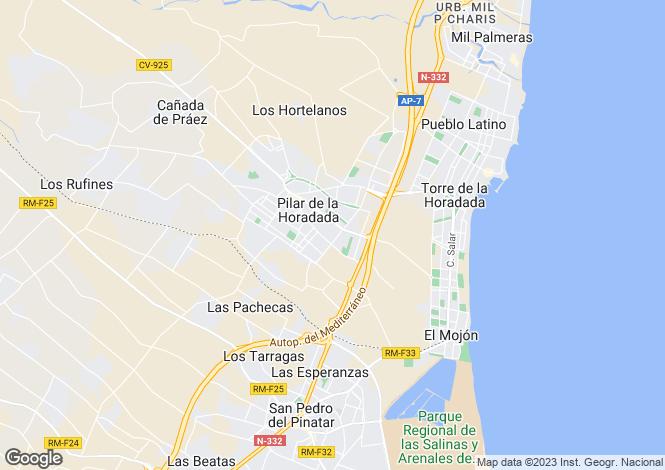 Map for Pilar de la horadada, Alicante