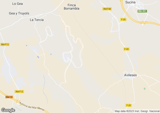 Map for Spain - Murcia, Sucina