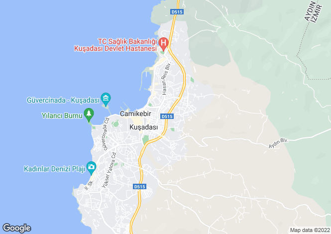 Map for Kusadasi, Kusadasi, Aydin