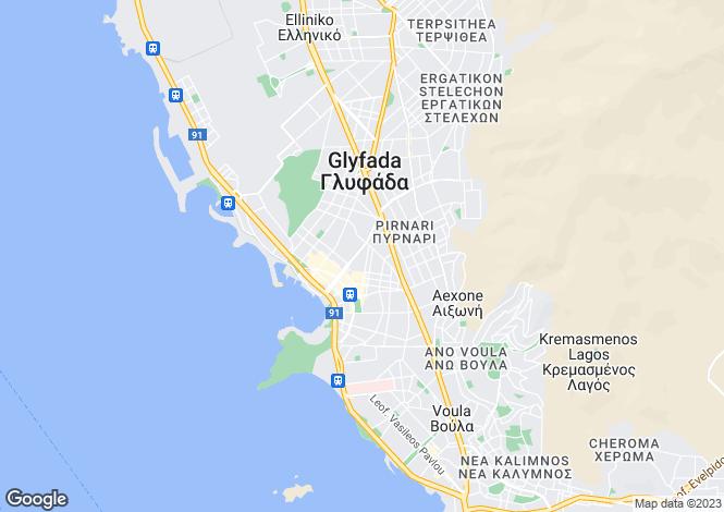 Map for Glyfada, Attica