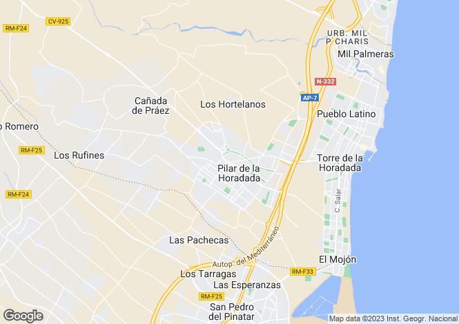 Map for Torre De La Horadada, Valencia, 03724, Spain