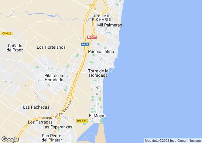 Map for Torre de la Horadada