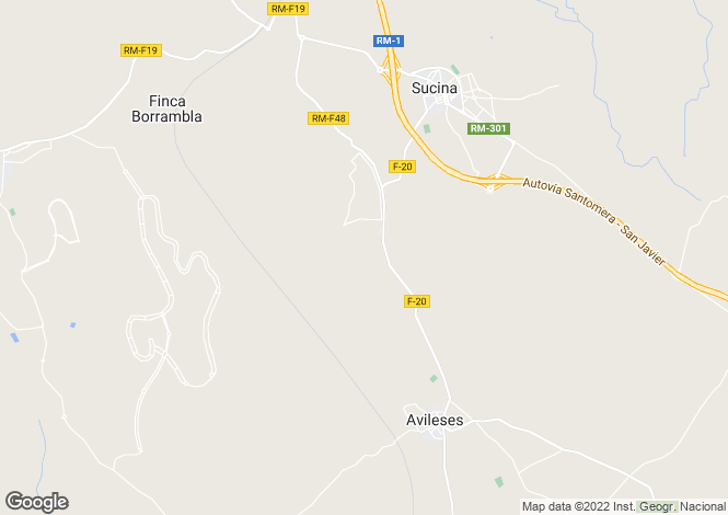 Map for Sucina, Murcia