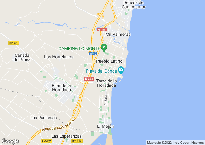Map for C/ De los Angeles con C/ Mar Egeo. Vivienda 109E, Torre de la Horadada, Pilar de la Horadada