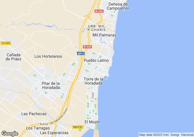 Map for Pilar de la Horadada