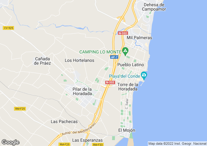 Map for Pilar De La Horadada, Alicante, Spain