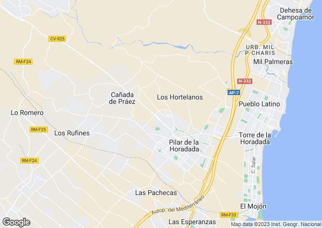 Map for Pilar De La Horadada, Alicante, Spain