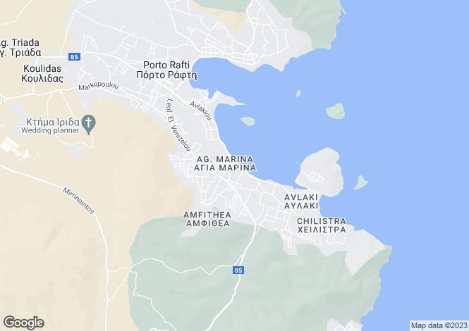 Map for Attica, Porto Rafti