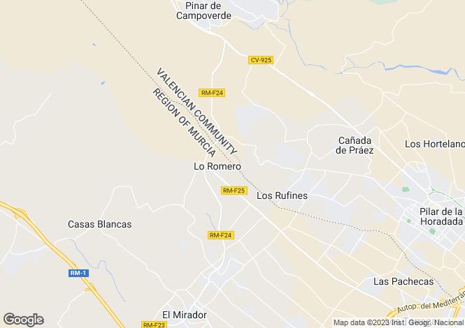 Map for Pilar de la Horadada, Alicante, Valencia