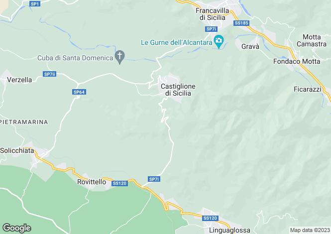 Map for Castiglione di Sicilia, Sicily