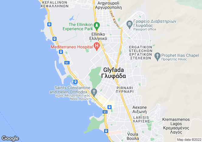 Map for Glyfada, Attica