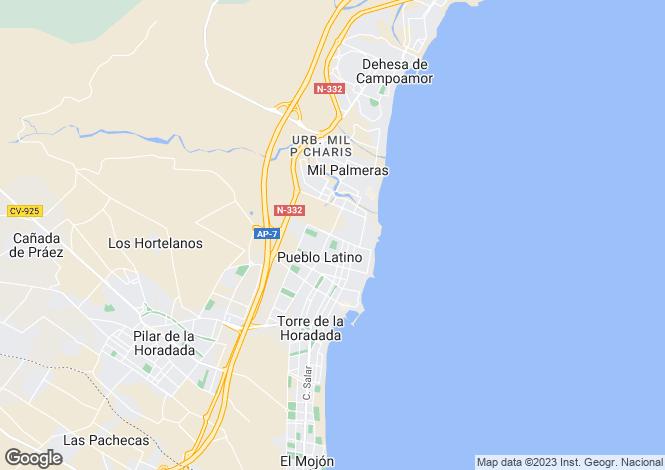 Map for Pilar de La Horadada, Pilar de La Horadada, Alicante, Spain